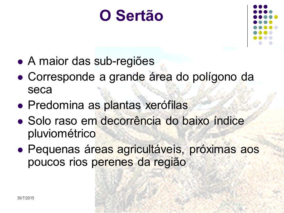30/7/201513 Planalto da Borborema: barreira natural