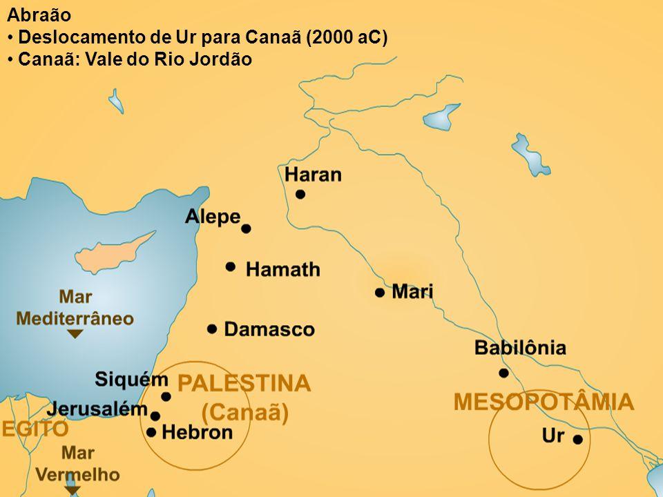 Abraão Deslocamento de Ur para Canaã (2000 aC) Canaã: Vale do Rio Jordão