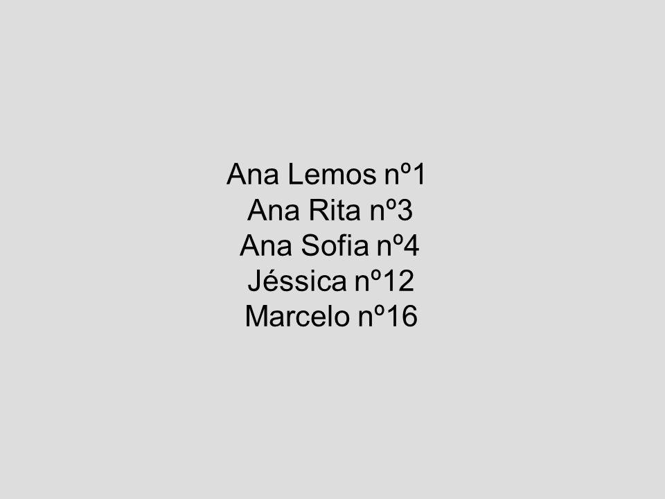 Ana Lemos nº1 Ana Rita nº3 Ana Sofia nº4 Jéssica nº12 Marcelo nº16
