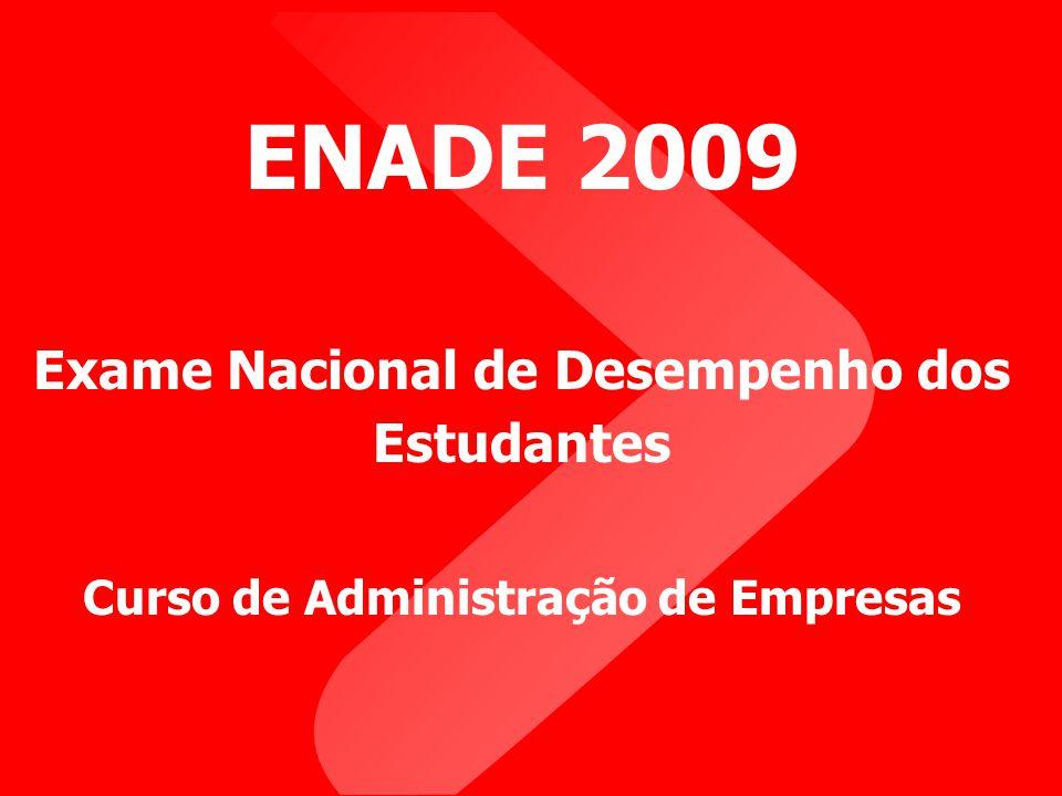 ENADE 2009 Exame Nacional de Desempenho dos Estudantes Curso de Administração de Empresas