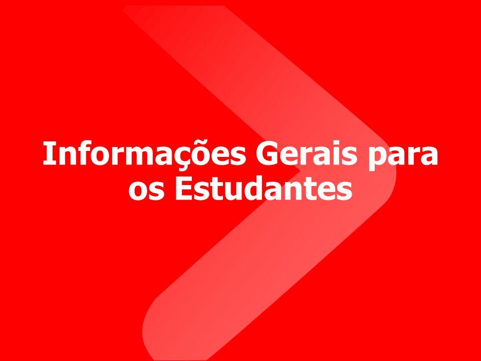 Informações Gerais para os Estudantes