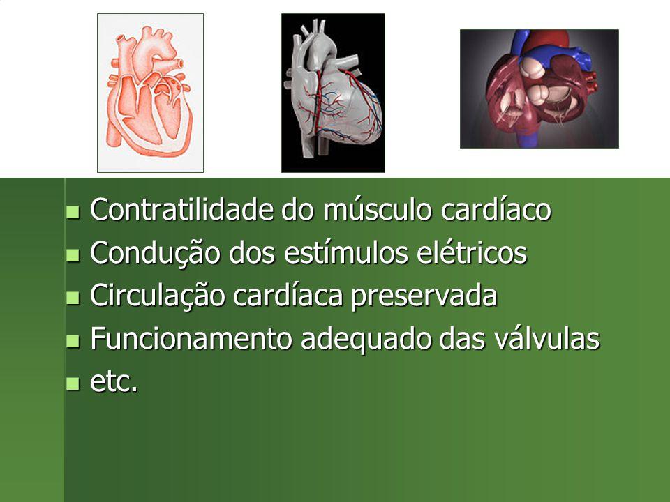 Contratilidade do músculo cardíaco Contratilidade do músculo cardíaco Condução dos estímulos elétricos Condução dos estímulos elétricos Circulação car