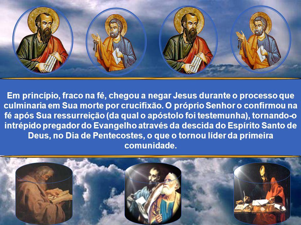 Pedro, que tinha como primeiro nome Simão, era natural de Betsaida, irmão do Apóstolo André. Pescador, foi chamado pelo próprio Jesus e, deixando tudo