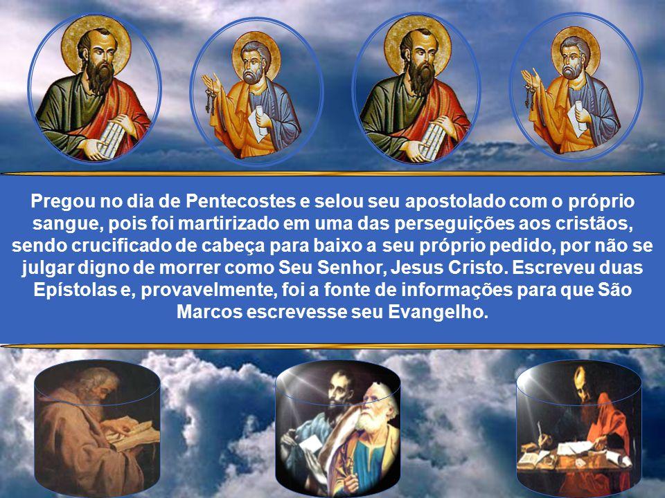 Em princípio, fraco na fé, chegou a negar Jesus durante o processo que culminaria em Sua morte por crucifixão. O próprio Senhor o confirmou na fé após
