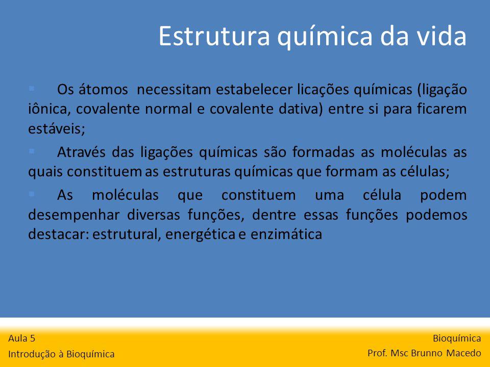 Estrutura química da vida Bioquímica Prof.