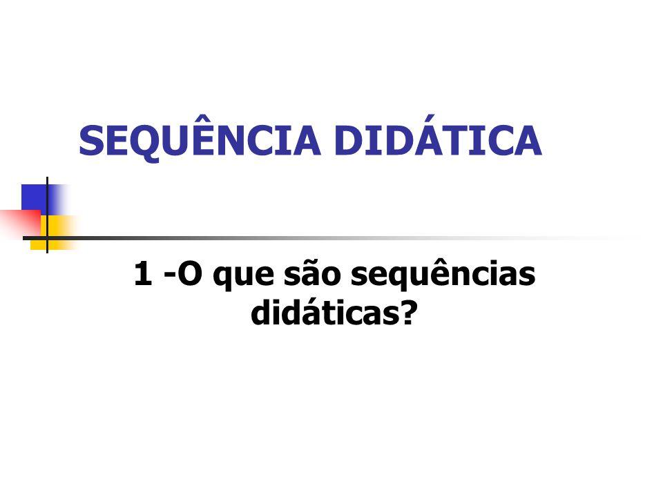 SEQUÊNCIA DIDÁTICA 1 -O que são sequências didáticas?
