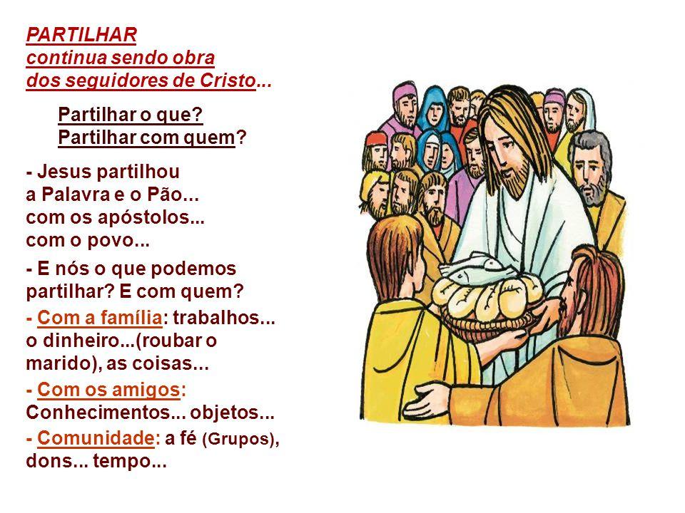 b) A ORGANIZAÇÃO do povo é um elemento importantíssimo para que ele possa reivindicar e conquistar os seus direitos: Jesus pede para que os discípulos organizem a multidão para que se sente.