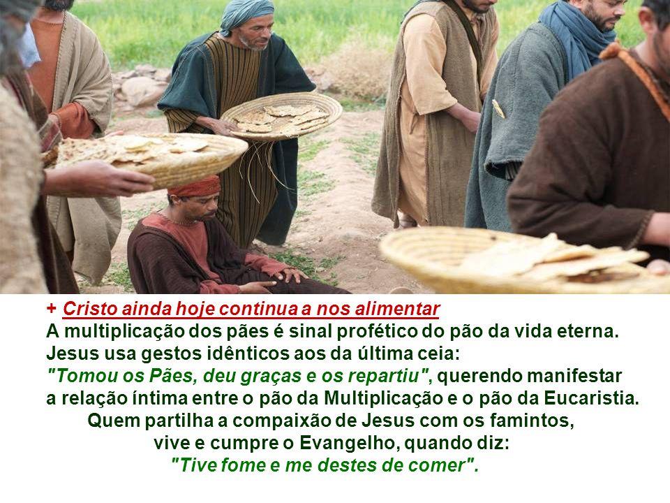 PARTILHAR continua sendo obra dos seguidores de Cristo...