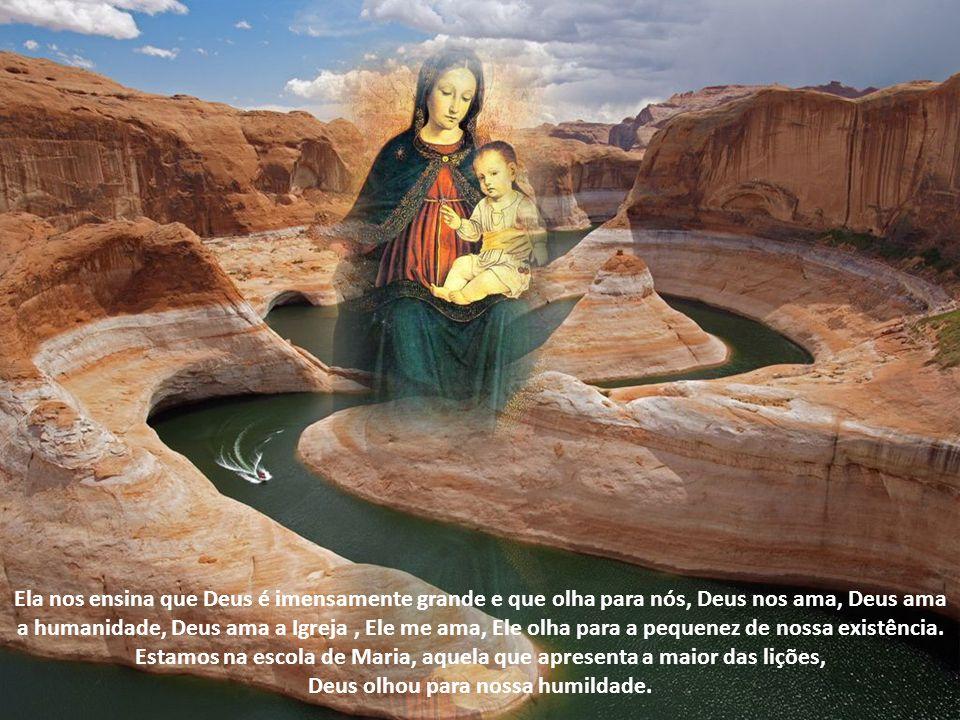E a resposta de Maria, ao elogio de Isabel, não é outra senão uma oração, como se dissesse: Isabel você está me elogiando, tudo isto pertence a Deus, Deus que é grande, eu sou a serva do Senhor , Veja que alma é essa de Maria, mãe do nosso salvador e nossa mãe.