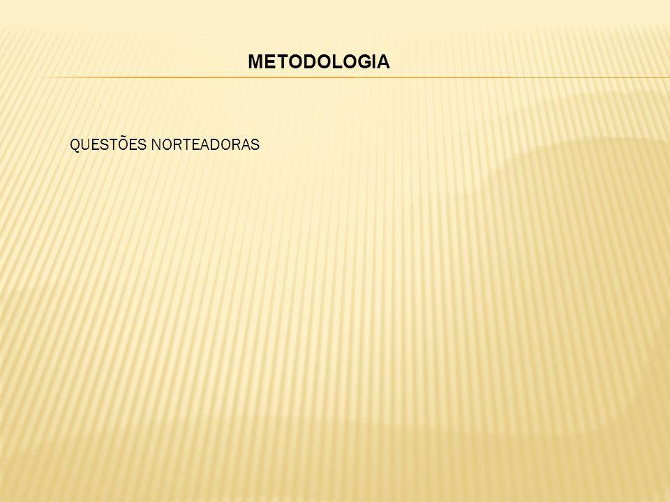 METODOLOGIA QUESTÕES NORTEADORAS