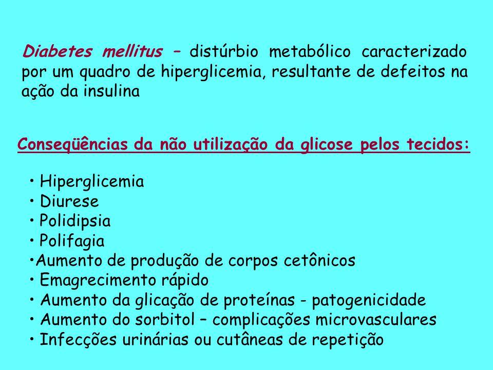 Método da glicose –oxidase-peroxidase (Trinder)  -D-Glicose + O 2 Glicose-oxidase Ácido glicônico + H 2 O 2 2H 2 O 2 + fenol + 4 - aminoantipirina peroxidase Quinoneimina + 4 H 2 O vantagens interferentes – enzimas reação indicadora Reações: