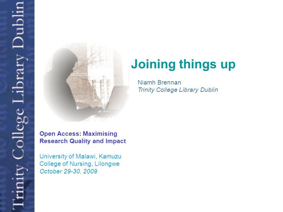 Collaboration: 4 African Universities* Working Together 1999-2009 Nearly 650 institutions worldwide In 70 Subjects * University of Malawi, Makerere University, University of Dar es Salaam, Universidad Eduardo Mondlane