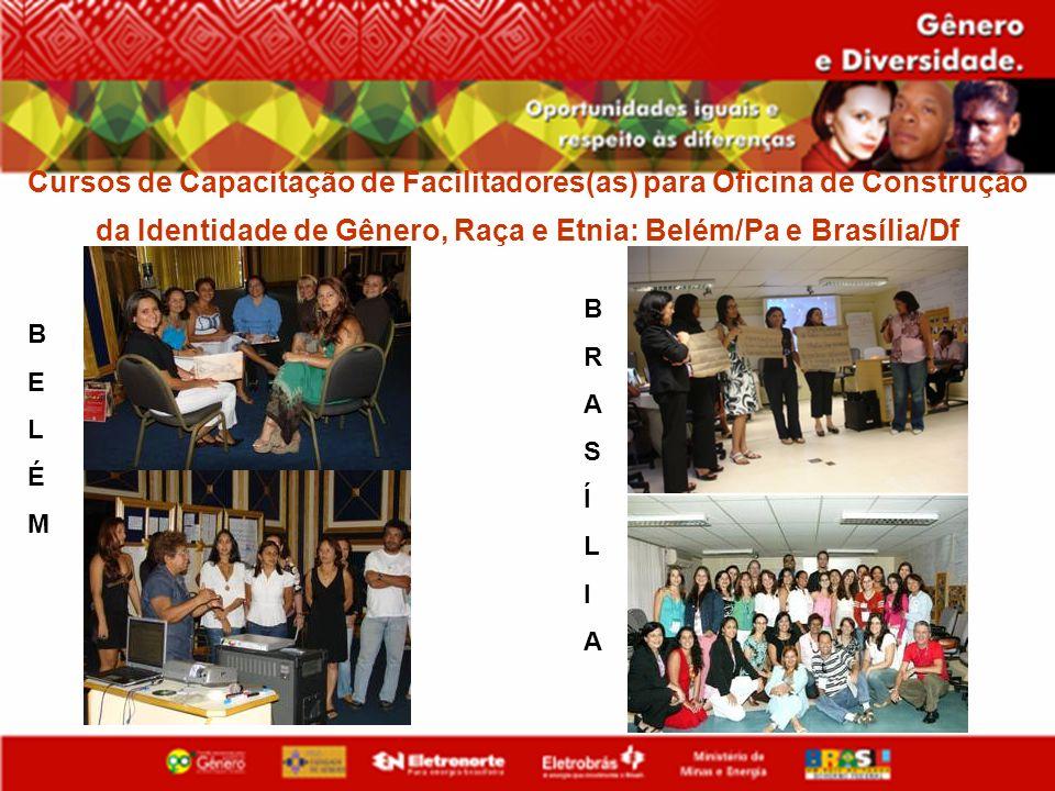 Cursos de Capacitação de Facilitadores(as) para Oficina de Construção da Identidade de Gênero, Raça e Etnia: Belém/Pa e Brasília/Df BELÉMBELÉM BRASÍLI