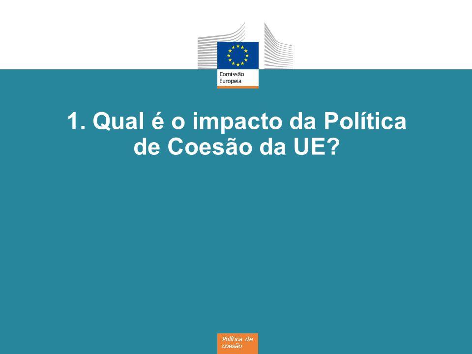 4 A Política de Coesão da UE investe em… Transportes Energias renováveis Investigação e inovação Formação Cooperação entre regiões Eficiência energética Apoio às PME