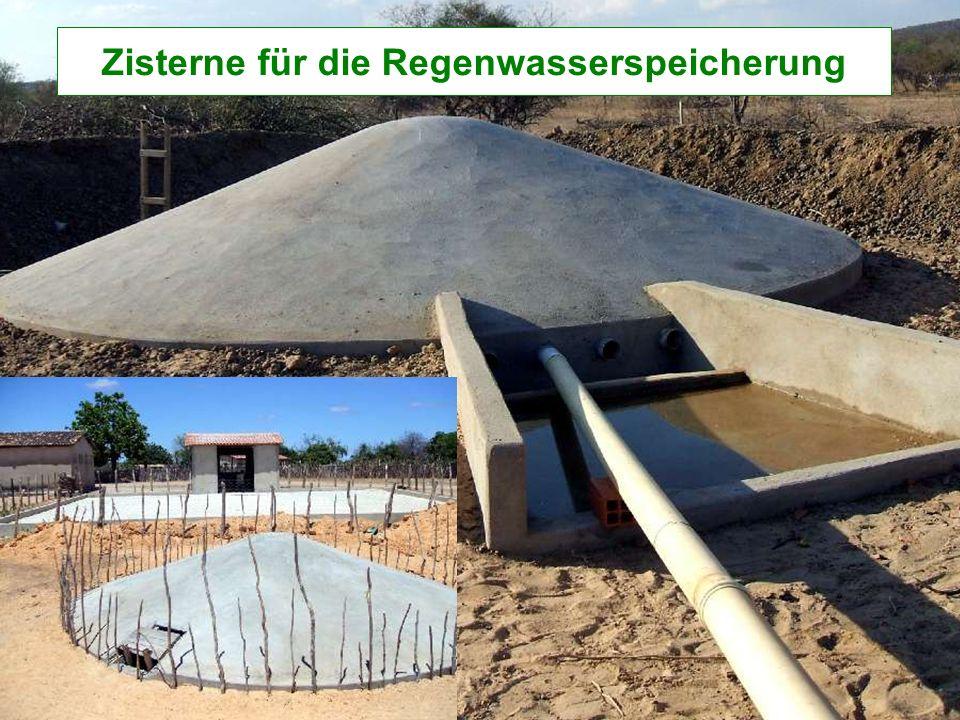 Zisterne für die Regenwasserspeicherung