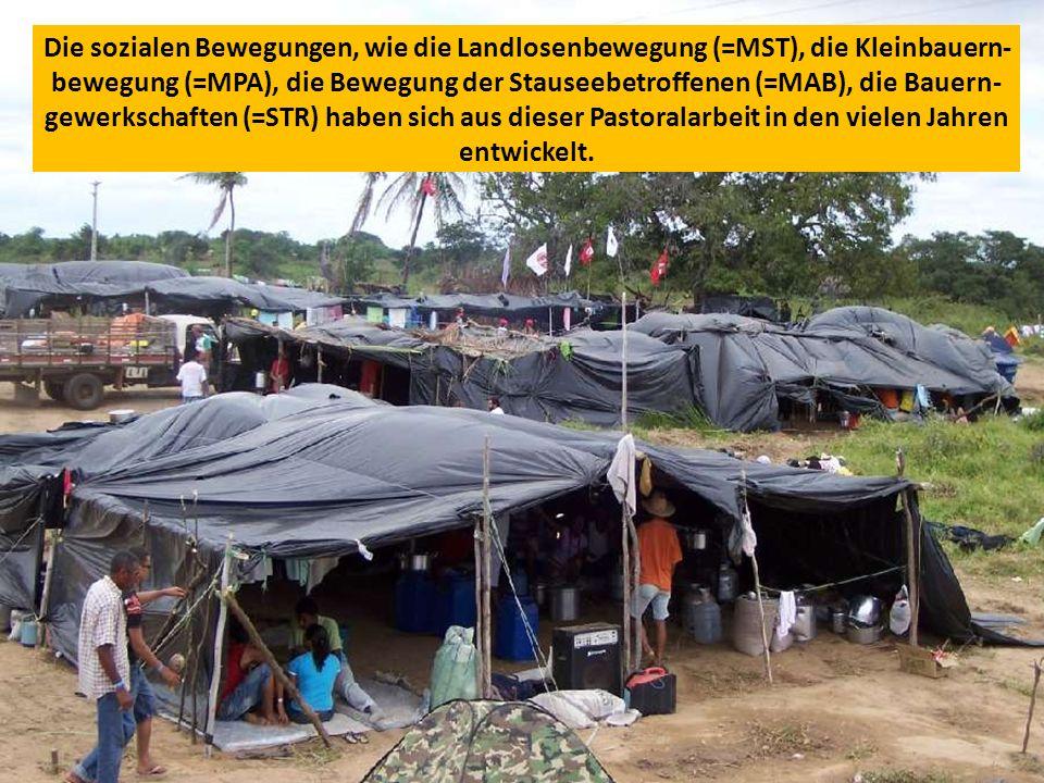 Die sozialen Bewegungen, wie die Landlosenbewegung (=MST), die Kleinbauern- bewegung (=MPA), die Bewegung der Stauseebetroffenen (=MAB), die Bauern- gewerkschaften (=STR) haben sich aus dieser Pastoralarbeit in den vielen Jahren entwickelt.