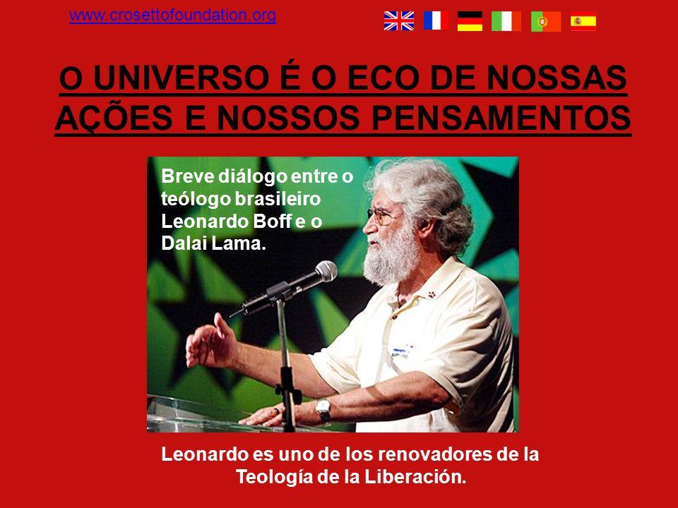 Breve diálogo entre o teólogo brasileiro Leonardo Boff e o Dalai Lama.