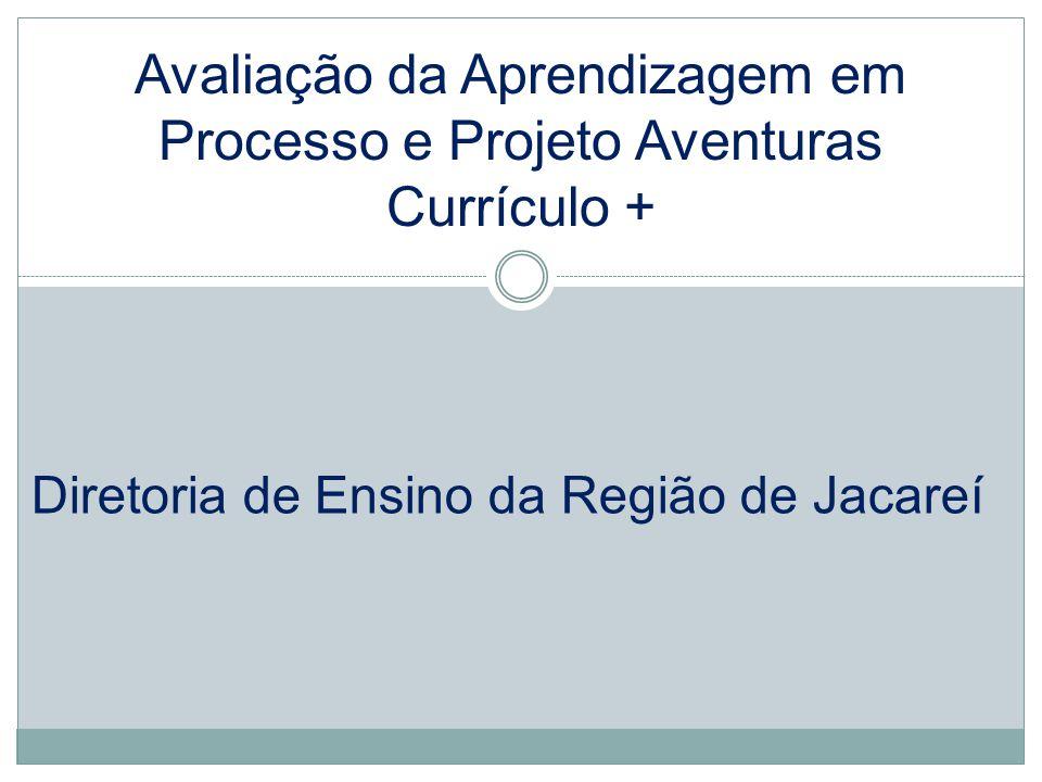 Avaliação da Aprendizagem em Processo e Projeto Aventuras Currículo + Diretoria de Ensino da Região de Jacareí