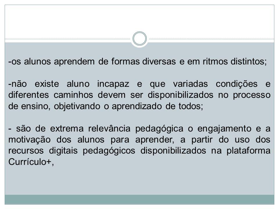 em observância ao que dispõe o inciso IV do artigo 2º do Decreto 57.571, de 2.12.2011, que institui o Programa Educação – Compromisso de São Paulo, bem como às disposições da Resolução SE 21, de 28.4.2014, e do Comunicado SE 1, de 4-3-2015, que trata das Diretrizes Norteadoras da Política Educacional do Estado de São Paulo - 2015-2018 , posicionando a integração das tecnologias da informação e comunicação (TIC) com o Currículo, como uma das ações centrais da atual política educacional.