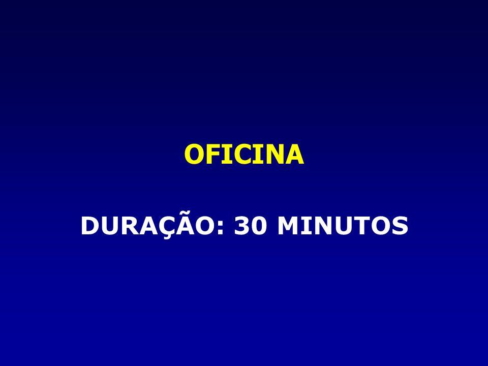OFICINA DURAÇÃO: 30 MINUTOS