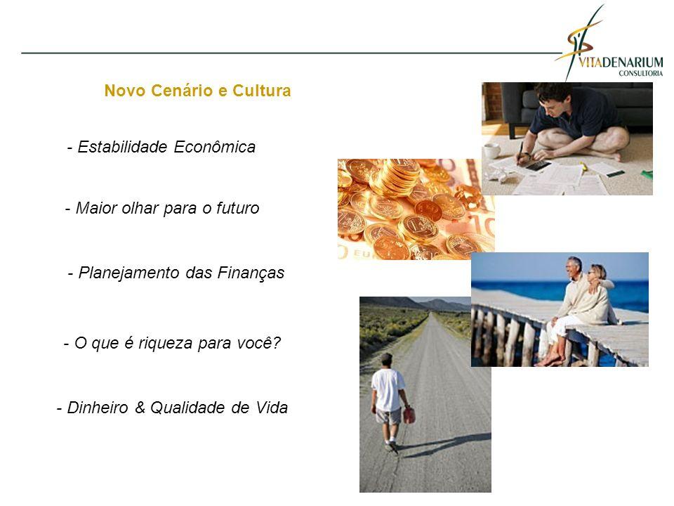 Novo Cenário e Cultura - Maior olhar para o futuro - O que é riqueza para você.