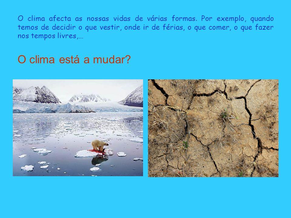 O clima afecta as nossas vidas de várias formas.