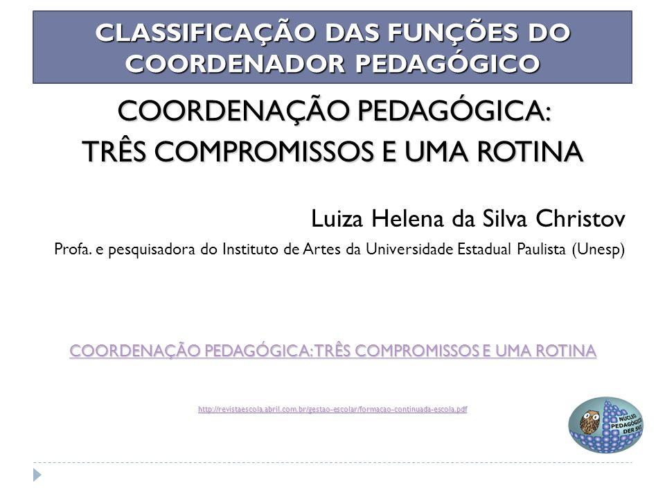 Plano de Trabalho do Professor Coordenador Pedagógico/2015 Proposta de construção e Portifólio