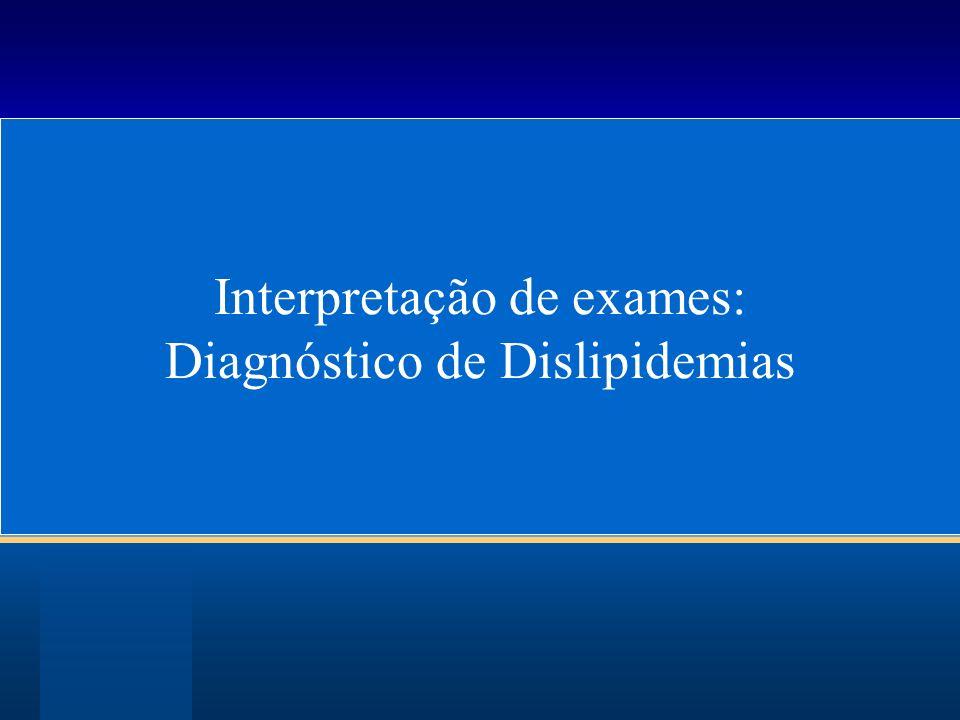 Interpretação de exames: Diagnóstico de Dislipidemias