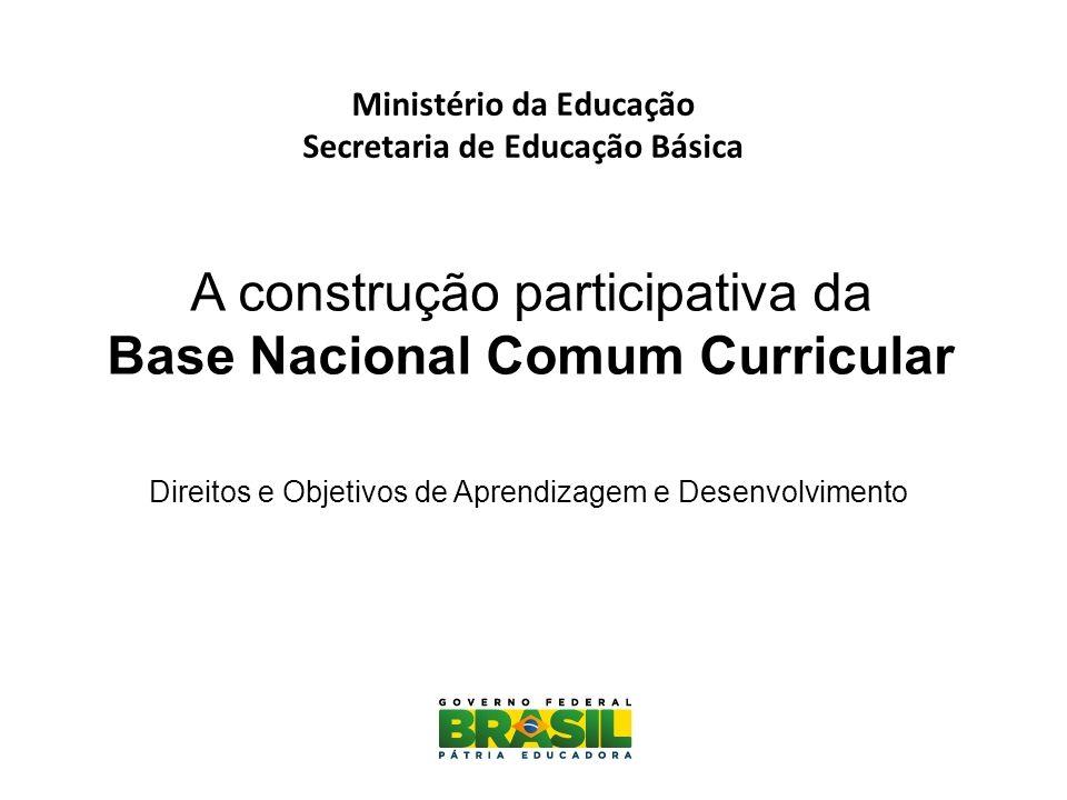  Educação Infantil: (...) garantir a elaboração de currículos e propostas pedagógicas que incorporem os avanços de pesquisas ligadas ao processo de ensino- aprendizagem e às teorias educacionais no atendimento da população de 0 (zero) a 5 (cinco) anos (PNE 1.9).