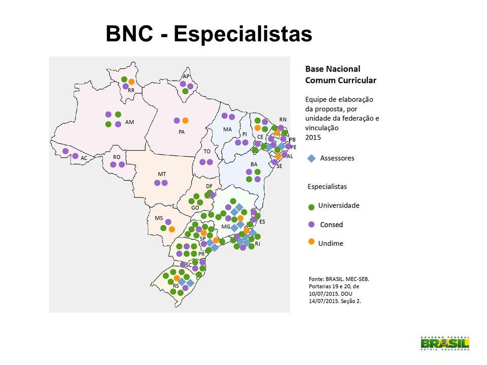 BNC - Especialistas MAPA ELABORADO PELA EQUIPE GEOGRAFIA 2015 - BNCC
