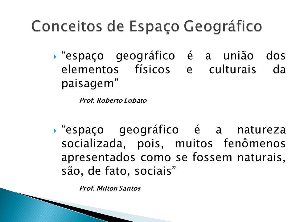  espaço geográfico é a união dos elementos físicos e culturais da paisagem Prof.
