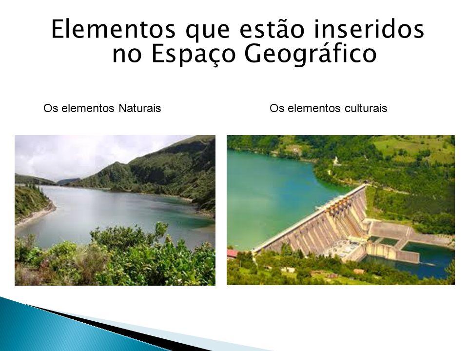 Elementos que estão inseridos no Espaço Geográfico Os elementos Naturais Os elementos culturais