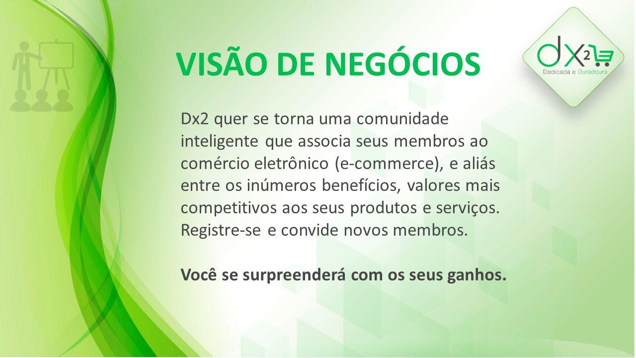 QUEM SOMOS Dx2 é uma empresa genuinamente brasileira, é a maior e mais crescente Rede de membros associada ao mercado publicitário que compartilha desde descontos, bônus e benefícios até a redistribuição de sua renda com toda a sua comunidade.