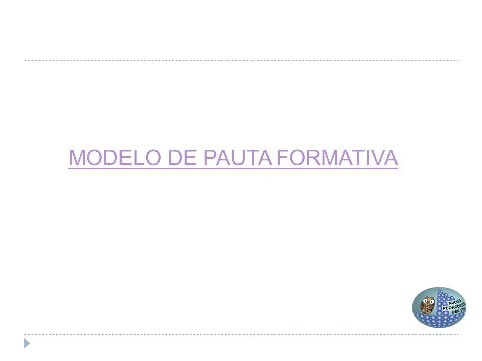 MODELO DE PAUTA FORMATIVA