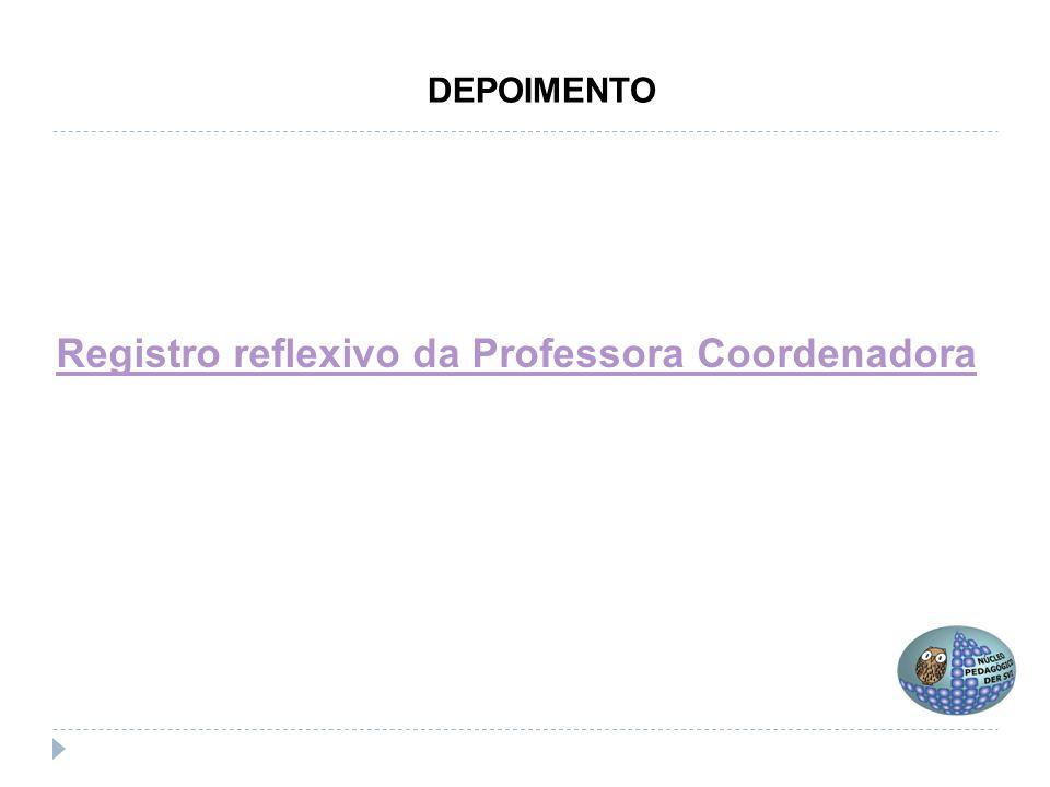 Registro reflexivo da Professora Coordenadora DEPOIMENTO