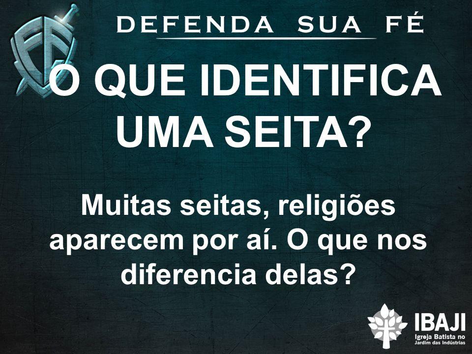 O QUE IDENTIFICA UMA SEITA? Muitas seitas, religiões aparecem por aí. O que nos diferencia delas?