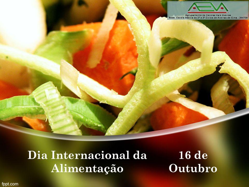 Origem do dia O dia internacional da alimentação é celebrado a dia 16 de Outubro, desde 1981.