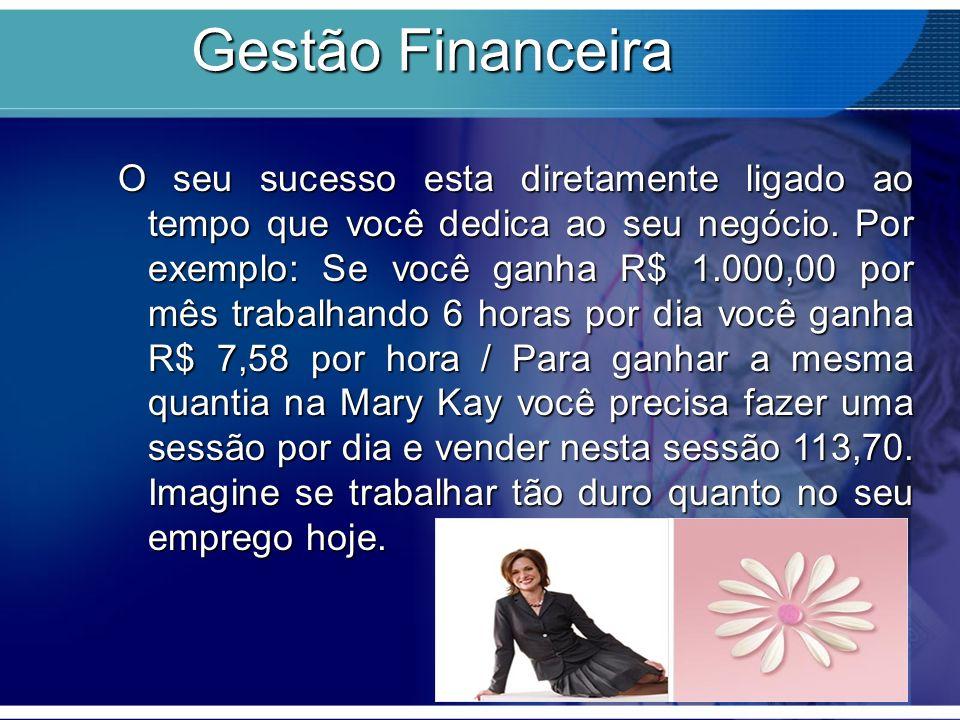 Gestão Financeira O seu sucesso esta diretamente ligado ao tempo que você dedica ao seu negócio.