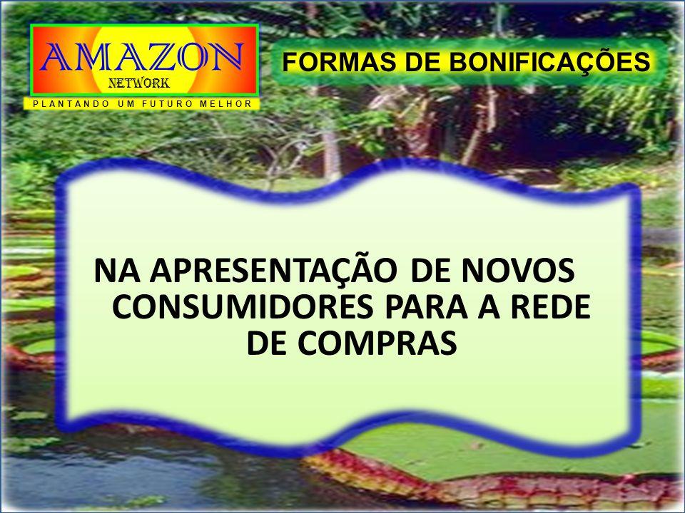 NA APRESENTAÇÃO DE NOVOS CONSUMIDORES PARA A REDE DE COMPRAS FORMAS DE BONIFICAÇÕES PLANTANDO UM FUTURO MELHOR AMAZON Network