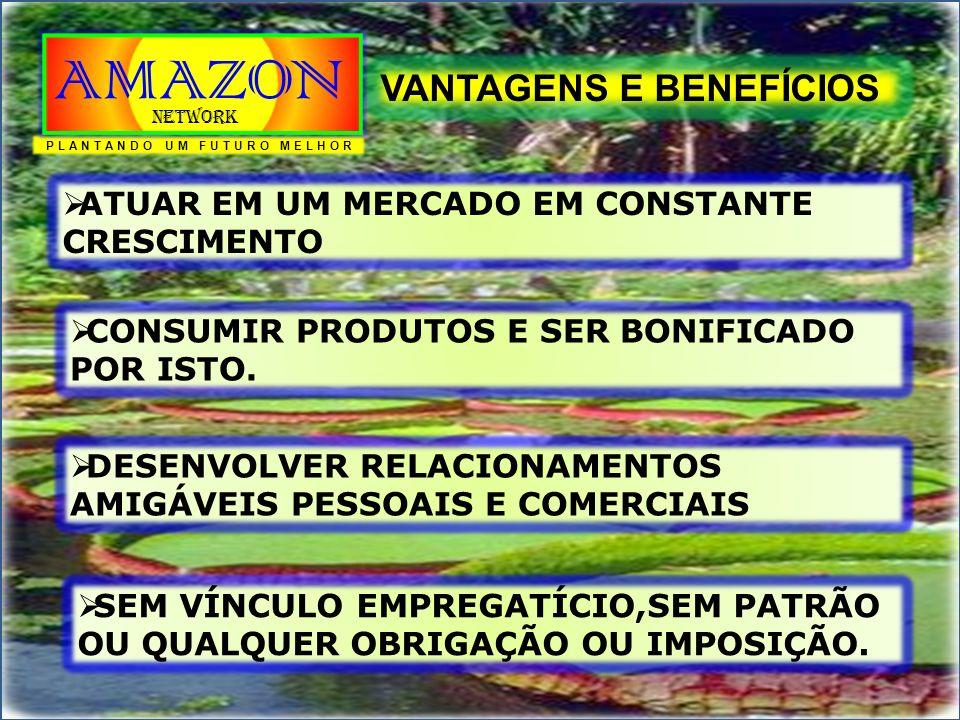 FORMA DE PARTICIPAÇÃO Adesão = R$ 60,00 (anual) Consumo = R$ 30,00 MENSAIS PLANTANDO UM FUTURO MELHOR AMAZON Network