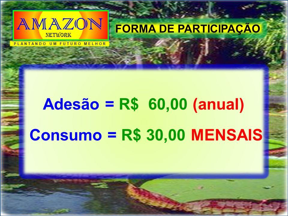 O PAGAMENTO DE QUALQUER TIPO DE BONIFICAÇÃO, SÓ SERÁ EFETUADO DESDE QUE O ASSOCIADO ESTEJA RIGOROSAMENTE EM DIA COM SUA MENSALIDADE. FORMAS DE BONIFICAÇÕES PLANTANDO UM FUTURO MELHOR AMAZON Network