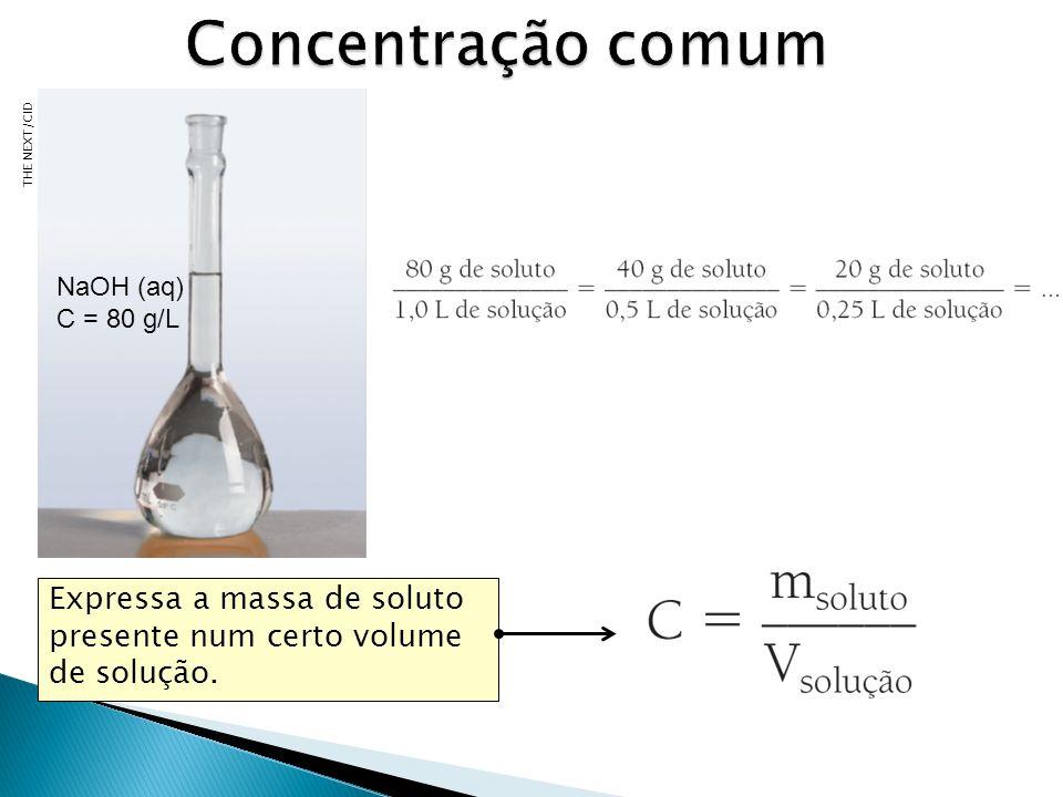 1) Suponha que precisemos preparar 0,5L de uma solução aquosa que apresenta cloreto de sódio na concentração de 10g/L.