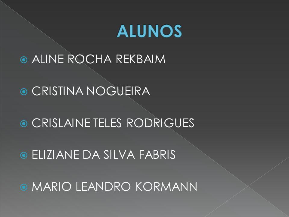  ALINE ROCHA REKBAIM  CRISTINA NOGUEIRA  CRISLAINE TELES RODRIGUES  ELIZIANE DA SILVA FABRIS  MARIO LEANDRO KORMANN