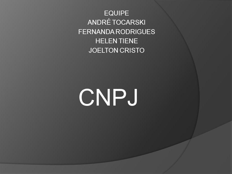 O que é e como foi criado o CNPJ.