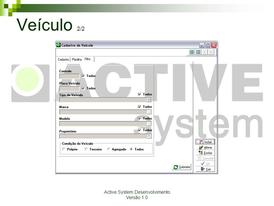 Active System Desenvolvimento Versão 1.0 Veículo 2/2