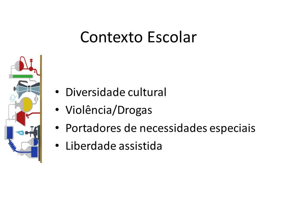 Contexto Escolar Diversidade cultural Violência/Drogas Portadores de necessidades especiais Liberdade assistida