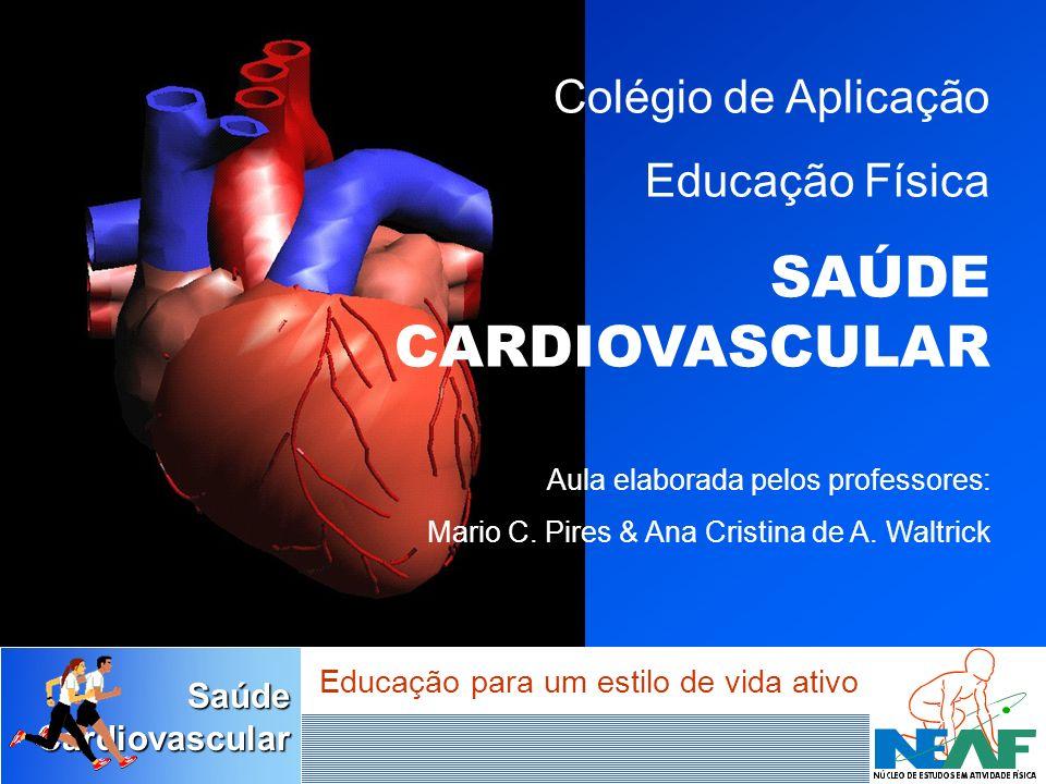 SaúdeCardiovascular Educação para um estilo de vida ativo Coronárias São as artérias que irrigam o coração, quando entopem, causam o infarto do miocárdio.