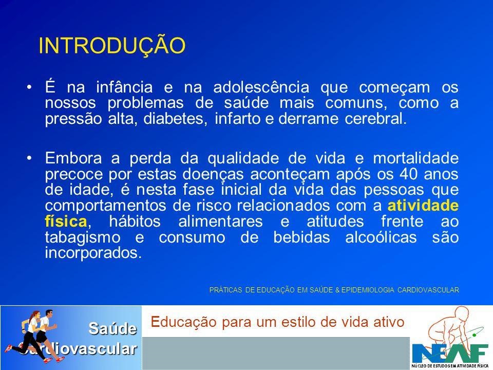 SaúdeCardiovascular Educação para um estilo de vida ativo 10 seg30seg2min5min ATP Ressíntese do ATP 100% Capacidade percentual dos sistemas de energia DURAÇÃO DO EXERCÍCIO Sistema a curto prazo (glicólise) Sistema imediato (ATP-CP) Sistema a longo prazo (aeróbio)