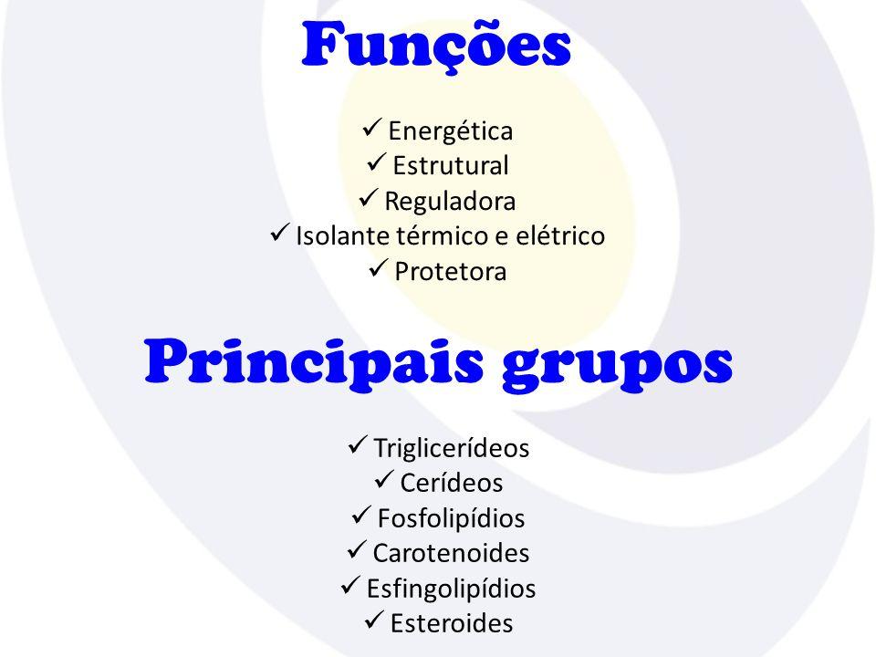 Triglicerídeos (triacilgliceróis) Óleos e gorduras Éster de ácido graxo e glicerol