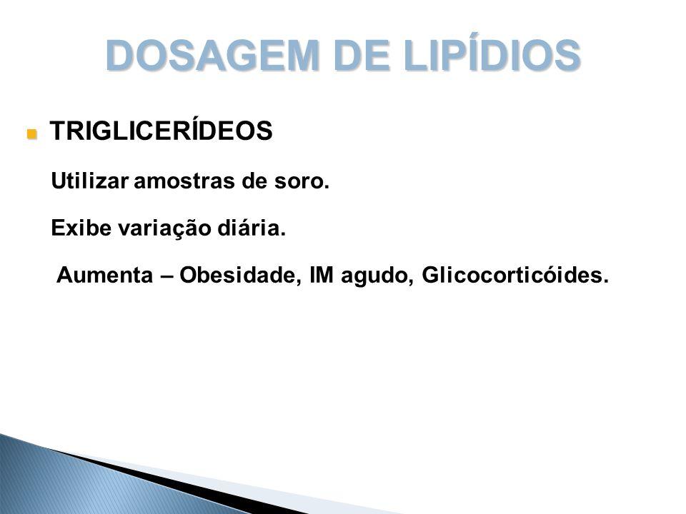 13 Classificação das Dislipidemias As dislipidemias primárias compreendem quatro tipos bem definidos: a)Hipercolesterolemia isolada – LDL-Colesterol  160mg/dL; Ex.: ateromas (LDL oxida e se aloja nas paredes do endotélio, formando placas de ateromas).